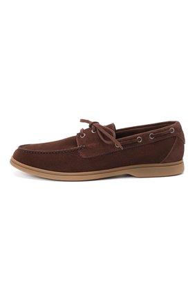 Мужские замшевые топсайдеры BRUNELLO CUCINELLI коричневого цвета, арт. MZUC0BB943 | Фото 3 (Мужское Кросс-КТ: Топсайдеры-обувь; Материал внутренний: Натуральная кожа; Материал внешний: Замша; Стили: Кэжуэл)