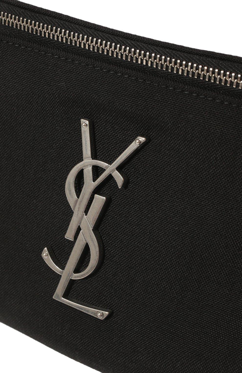 Мужская текстильная поясная сумка SAINT LAURENT черного цвета, арт. 590076/GIV6E | Фото 3 (Материал: Текстиль)
