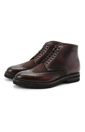 Мужские комбинированные ботинки W.GIBBS коричневого цвета, арт. 0128007/1910 | Фото 1