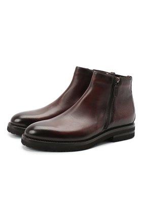 Мужские кожаные сапоги W.GIBBS темно-коричневого цвета, арт. 0128020/2303   Фото 1