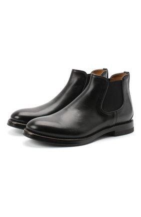 Мужские кожаные челси W.GIBBS черного цвета, арт. 0220007/2302 | Фото 1