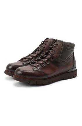 Мужские кожаные ботинки W.GIBBS темно-коричневого цвета, арт. 0260005/1420 | Фото 1
