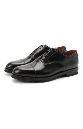 Мужские кожаные оксфорды W.GIBBS черного цвета, арт. 0639012/0149 | Фото 1