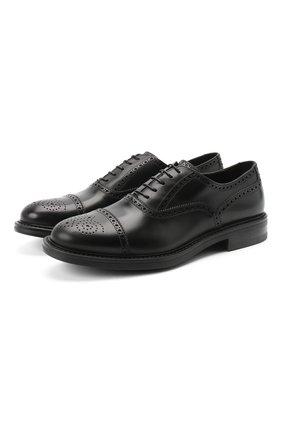 Мужские кожаные оксфорды W.GIBBS черного цвета, арт. 3169010/0214 | Фото 1