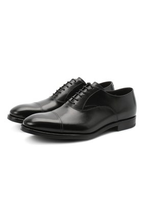 Мужские кожаные оксфорды H`D`S`N BARACCO черного цвета, арт. 58302.7G* | Фото 1