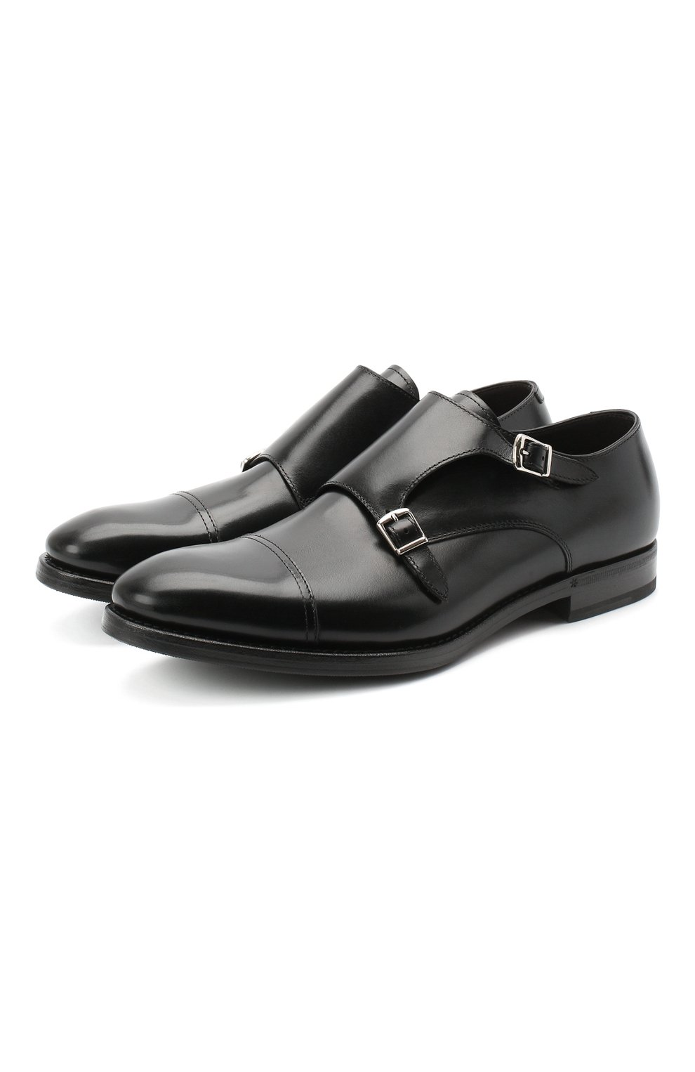 Мужские кожаные монки H`D`S`N BARACCO черного цвета, арт. 59214.5G* | Фото 1