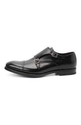 Мужские кожаные монки H`D`S`N BARACCO черного цвета, арт. 59214.5G* | Фото 3