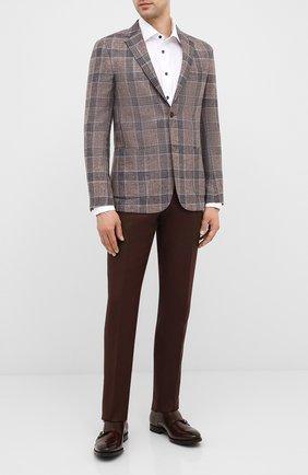 Мужские кожаные монки H`D`S`N BARACCO коричневого цвета, арт. 59214.6G* | Фото 2