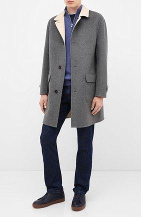Мужские кожаные кеды H`D`S`N BARACCO темно-синего цвета, арт. C0NN0R.CMM.0* | Фото 2