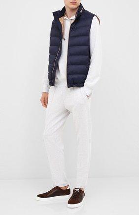 Мужской хлопковые брюки BRUNELLO CUCINELLI серого цвета, арт. M0T313212G | Фото 2