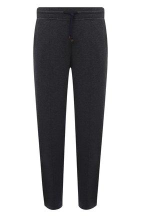 Мужской хлопковые брюки BRUNELLO CUCINELLI темно-серого цвета, арт. M0T313212G | Фото 1