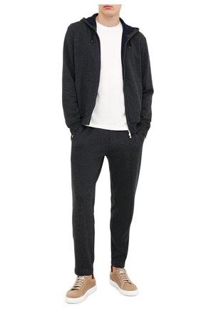 Мужской хлопковые брюки BRUNELLO CUCINELLI темно-серого цвета, арт. M0T313212G | Фото 2
