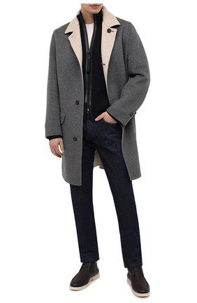 Мужской двустороннее пальто из кашемира BRUNELLO CUCINELLI серого цвета, арт. ML4549947 | Фото 2