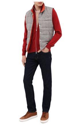 Мужская кашемировый кардиган BRUNELLO CUCINELLI красного цвета, арт. M2200106 | Фото 2