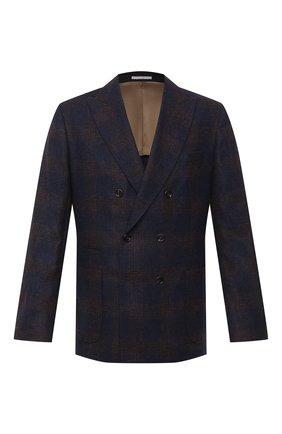 Мужской шерстяной пиджак BRUNELLO CUCINELLI темно-синего цвета, арт. MN4797BBD | Фото 1