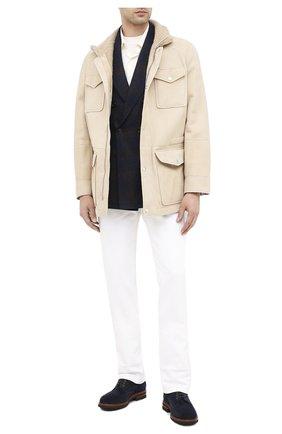 Мужской шерстяной пиджак BRUNELLO CUCINELLI темно-синего цвета, арт. MN4797BBD | Фото 2