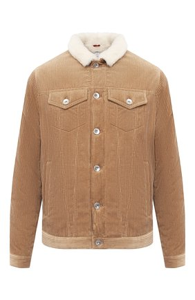 Мужская хлопковая куртка BRUNELLO CUCINELLI бежевого цвета, арт. MQ4086427 | Фото 1