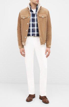Мужская хлопковая куртка BRUNELLO CUCINELLI бежевого цвета, арт. MQ4086427 | Фото 2