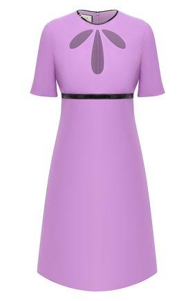 Платье из шелка и шерсти | Фото №1