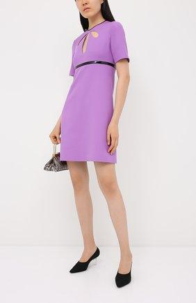 Платье из шелка и шерсти | Фото №2
