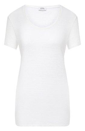 Женская льняная футболка LA FABBRICA DEL LINO белого цвета, арт. ES918 | Фото 1