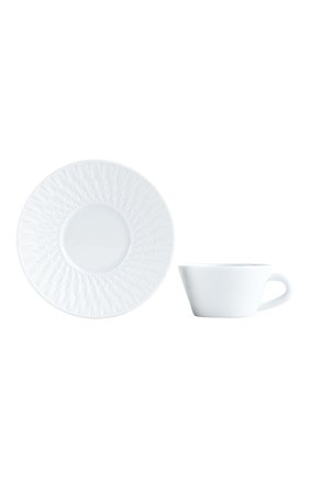 Кофейная чашка с блюдцем twist BERNARDAUD белого цвета, арт. 1836/79 | Фото 1