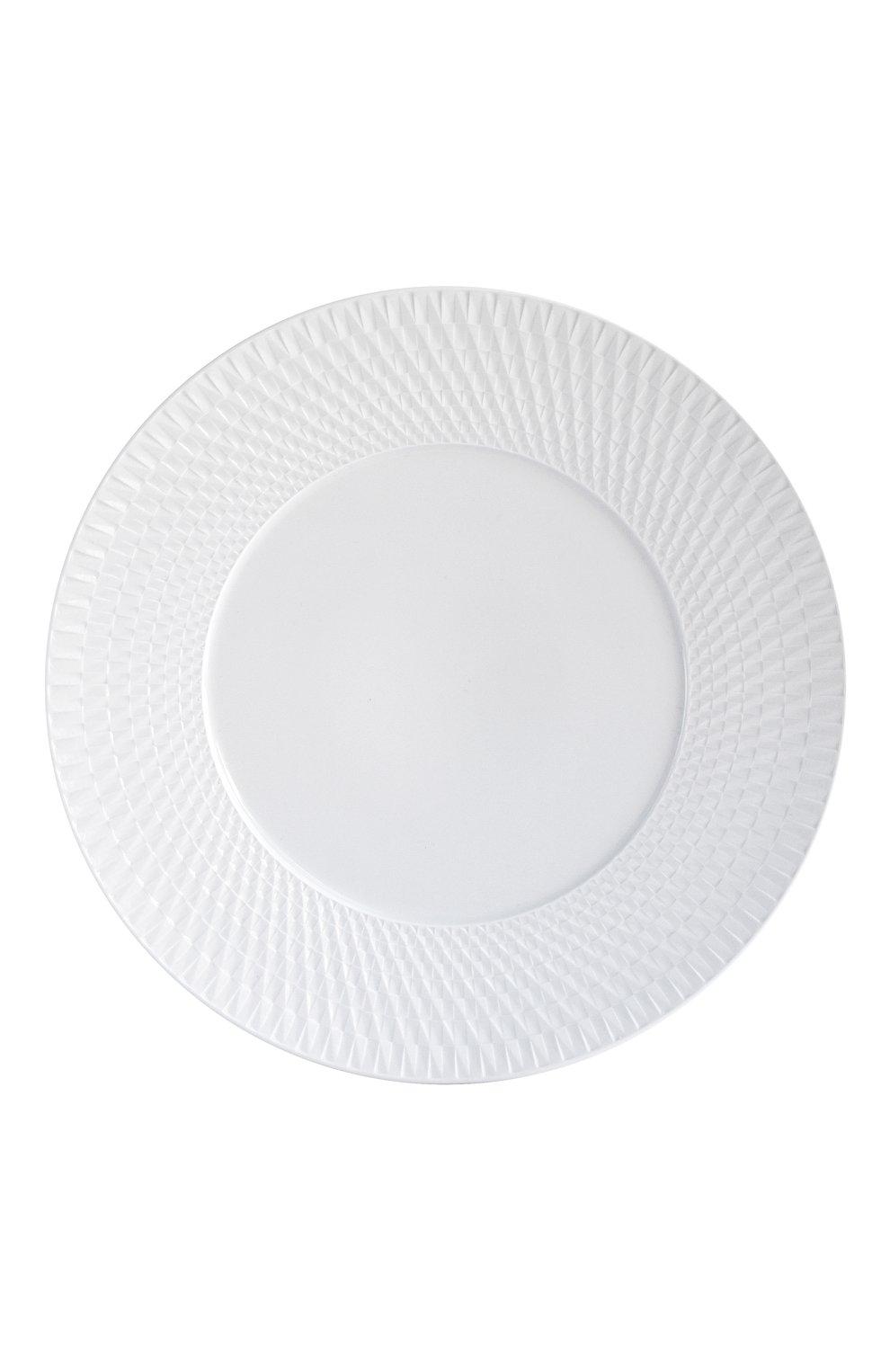 Мужского сервировочная тарелка twist blanc BERNARDAUD белого цвета, арт. 1836/7 | Фото 1