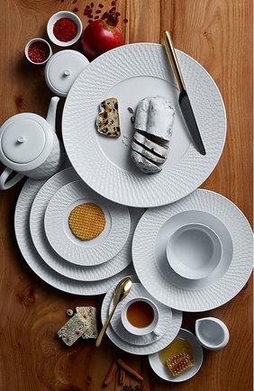 Мужского сервировочная тарелка twist blanc BERNARDAUD белого цвета, арт. 1836/7 | Фото 3