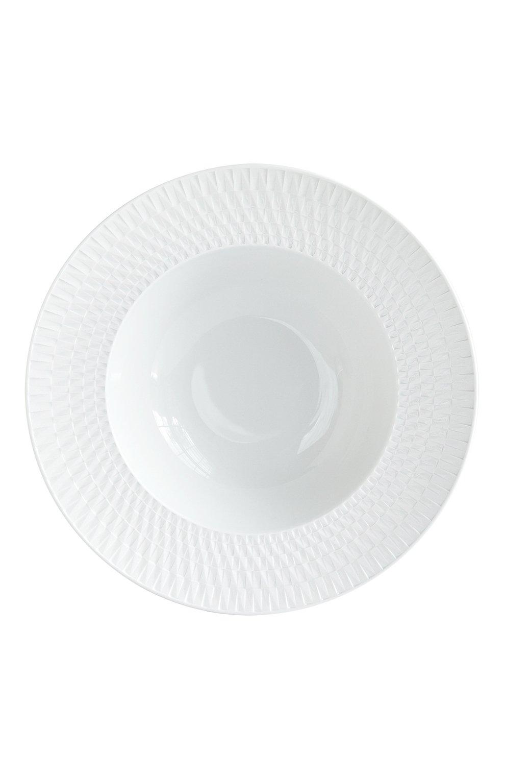 Мужского суповая тарелка twist blanc BERNARDAUD белого цвета, арт. 1836/23   Фото 1
