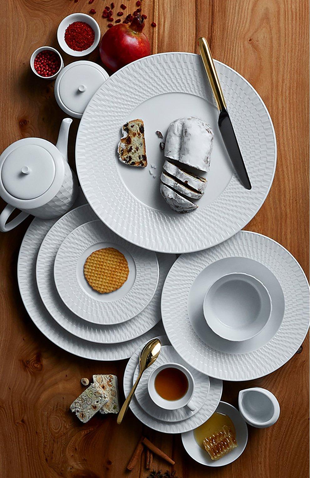 Мужского суповая тарелка twist blanc BERNARDAUD белого цвета, арт. 1836/23   Фото 2