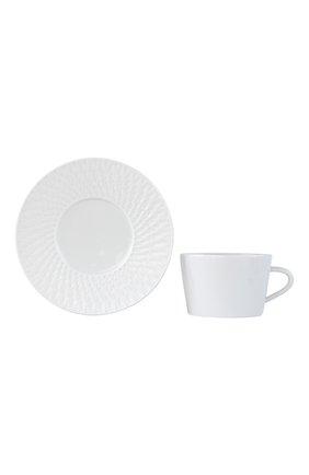 Мужского чайная чашка с блюдцем twist blanc BERNARDAUD белого цвета, арт. 1836/89 | Фото 2
