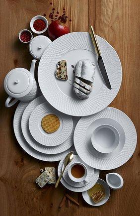 Мужского чайная чашка с блюдцем twist blanc BERNARDAUD белого цвета, арт. 1836/89 | Фото 3
