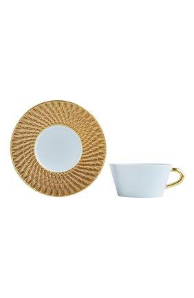 Мужского чайная чашка с блюдцем twist or BERNARDAUD золотого цвета, арт. 1849/89 | Фото 1