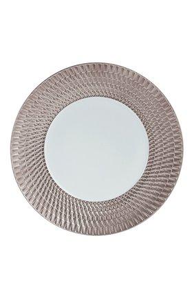 Обеденная тарелка twist platine BERNARDAUD серебряного цвета, арт. 1851/21259 | Фото 1