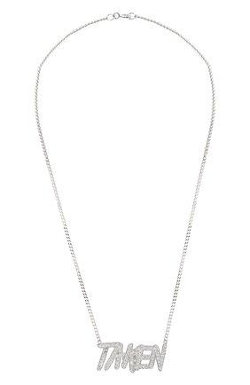 Женская подвеска на цепочке taken LEVASHOVAELAGINA серебряного цвета, арт. taken/n | Фото 1