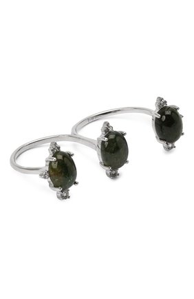 Женское кольцо-кастет с зеленым турмалином и топазами MOONKA STUDIO зеленого цвета, арт. ai-cr-g   Фото 1