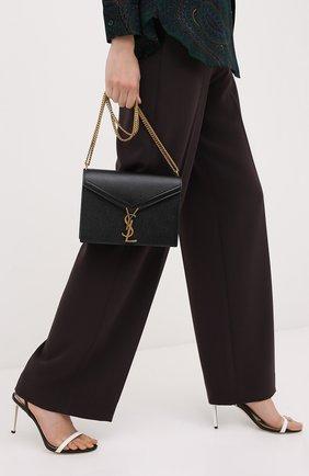 Женская сумка cassandra medium SAINT LAURENT черного цвета, арт. 532750/B0W0W   Фото 2