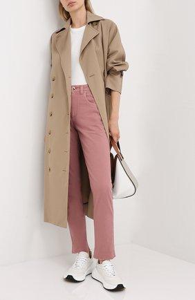 Женские джинсы BRUNELLO CUCINELLI розового цвета, арт. MPH43P5524 | Фото 2