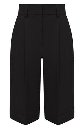 Женские шерстяные шорты BRUNELLO CUCINELLI черного цвета, арт. MP171P7322 | Фото 1