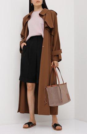 Женские шерстяные шорты BRUNELLO CUCINELLI черного цвета, арт. MP171P7322 | Фото 2