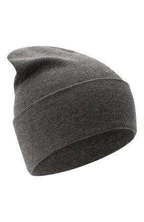 Женская шапка из смеси кашемира и вискозы BRUNELLO CUCINELLI серого цвета, арт. M9A850199P | Фото 1
