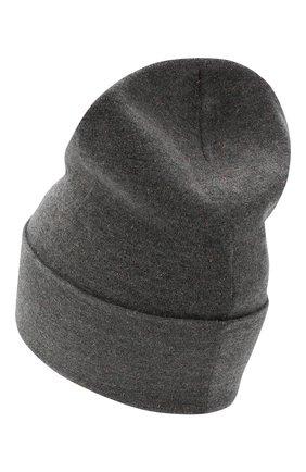 Женская шапка из смеси кашемира и вискозы BRUNELLO CUCINELLI серого цвета, арт. M9A850199P | Фото 2