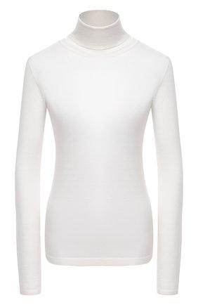 Женская водолазка из смеси кашемира и шелка BRUNELLO CUCINELLI белого цвета, арт. M13800063P | Фото 1