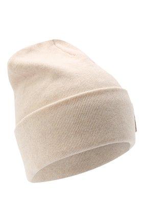 Женская кашемировая шапка BRUNELLO CUCINELLI светло-бежевого цвета, арт. M12171699P | Фото 1