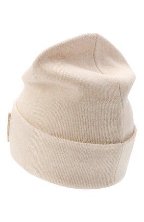 Женская кашемировая шапка BRUNELLO CUCINELLI светло-бежевого цвета, арт. M12171699P | Фото 2