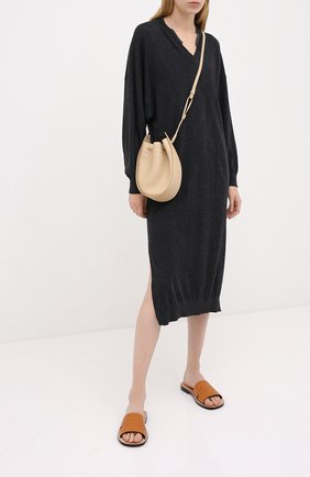 Женское шерстяное платье BRUNELLO CUCINELLI темно-серого цвета, арт. M14817A92P | Фото 2