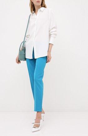 Женские брюки ESCADA голубого цвета, арт. 5024888 | Фото 2