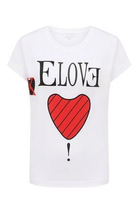 Женская хлопковая футболка ESCADA SPORT белого цвета, арт. 5033829 | Фото 1