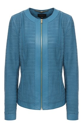 Женская кожаная куртка ESCADA голубого цвета, арт. 5033531 | Фото 1
