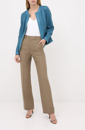 Женская кожаная куртка ESCADA голубого цвета, арт. 5033531 | Фото 2
